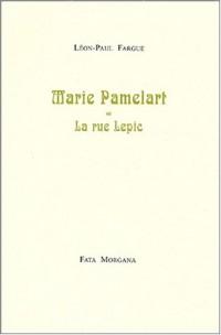 Marie Pamelart ou La rue Lepic