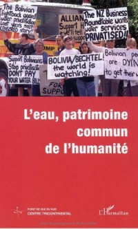 LES CAHIERS ALTERNATIVE SUD N°4/2001 : L'EAU, PATRIMOINE COMMUN DE L'HUMANITE