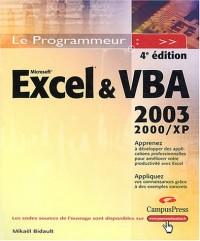 Excel et VBA : Versions 2000, 2002 et 2003