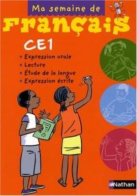 Ma semaine de français CE1