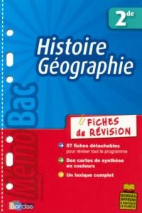Histoire Géographie 2e : Fiches de révision