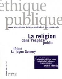 Ethique Publique V 08 N 01 la Religion Dans l Espace Public Debat la Leçon Gomery