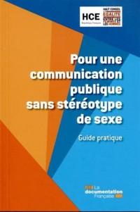 Guide pratique pour une communication publique sans stéréotype de sexe