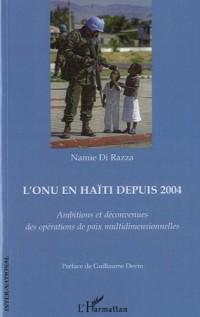 L'ONU en Haïti depuis 2004 : Ambitions et déconvenues des opérations de paix multidimensionnelles