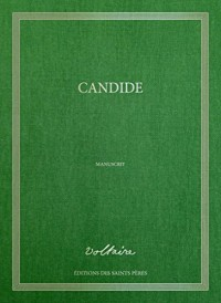 Candide, le manuscrit