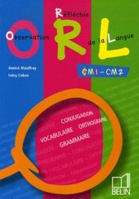 Observation Réfléchie de la Langue CM1-CM2