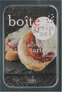 Boîte grain de sel pour des soirées tartines