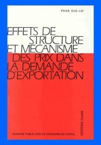 Effets de structure et mécanisme des prix dans la demande d'exportation
