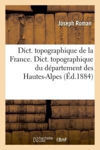 Dict  des Hautes Alpes  ed 1884