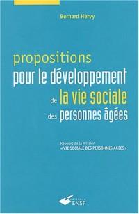 Propositions pour le développement de la vie sociale des personnes âgées : Rapport de la mission