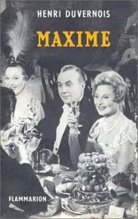 Maxime (livre non massicoté)