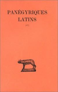 Panégyriques latins, tome 1