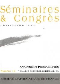 Analyse et probabilités