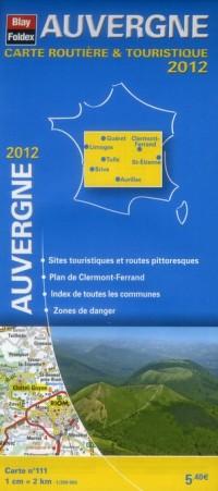 Auvergne, Carte Régionale Routière Touristique N°111. Plan du centre-ville de Clermont-Ferrand 1/200 000, avec index - Edition 2012