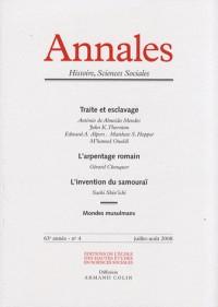 Annales. histoire, sciences sociales - vol. 63 (4/2008)