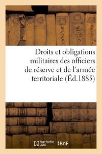 Droits et Obligations Militaires  ed 1885