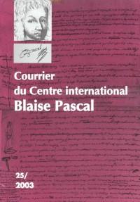 Courrier du Centre International Blaise Pascal, N  25/2003