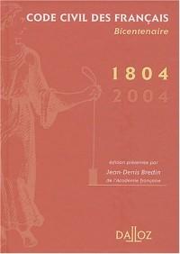 Code civil des Français bicentenaire de 1804 à 2004