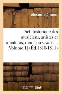 Dict  des Musiciens  Vol  1  ed 1810 1811