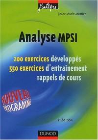 Exercices de mathématiques : Analyse MPSI, 1re année - MPSI, PCSI, PTSI - Exercices et rappels de cours