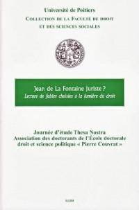 Jean de La Fontaine juriste ? : Lecture de fables choisies à la lumière du droit