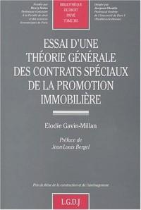 Essai d'une théorie générale des contrats spéciaux de la promotion immobilière, tome 383