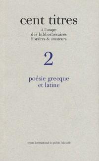 Poésie grecque et latine