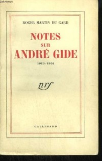 Notes sur andre gide (1913-1951)