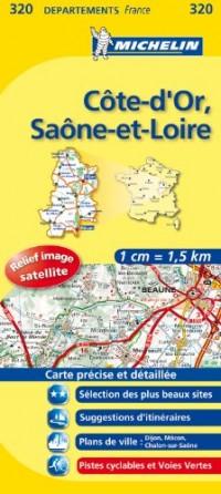 Côte-d'Or, Saône-et-Loire : 1/150 000