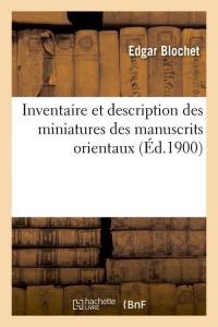 Inventaire des Manuscrits Orientaux  ed 1900