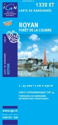 Carte de Randonnée: Royan, Forêt de la Coubre - N.1332 ET - 1/25000