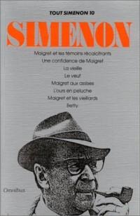 Tout Simenon, tome 10 (8 romans)