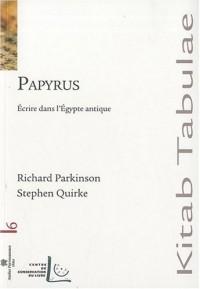 Papyrus écrire dans l'Egypte antique