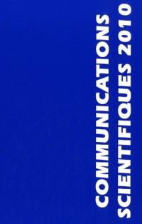COMMUNICATIONS SCIENTIFIQUES MAPAR 2010