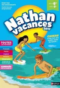 Nathan Vacances 2017 6/5ème - Cahier de vacances