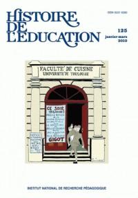 Histoire de l'éducation, N° 125, janvier-mars :