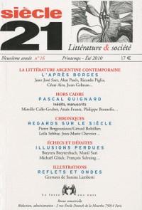 Revue siècle 21 n16