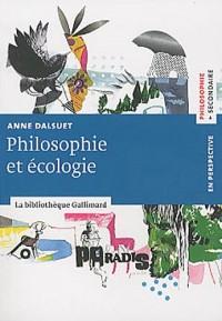 Philosophie et écologie
