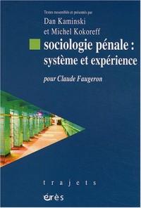 Sociologie pénale : système et expérience : Pour Claude Faugeron
