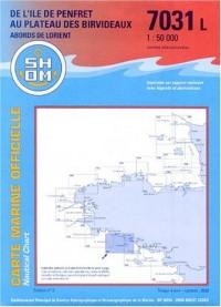Carte marine : De l'île de Penfret au Plateau des Birvideaux - Abords de Lorient