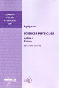 Agrégation, Sciences Physiques option: Chimie : Concours externe
