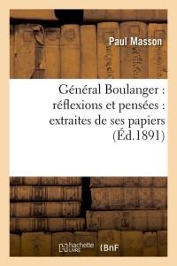General Boulanger  ed 1891