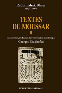 Textes du Moussar II