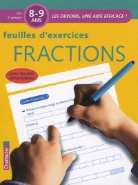 Feuilles d'exercices Fractions 8-9 ans CE2