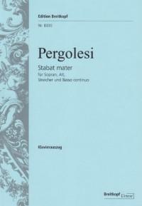 EDITION BREITKOPF PERGOLESI G.B. - STABAT MATER - CHANT, CHOEUR, PIANO
