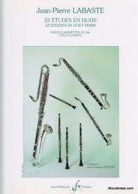 32 Etudes en Duos pour clarinettes en si bémol