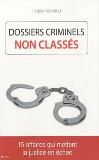 Dossiers criminels non classés