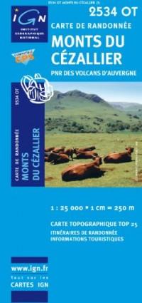 Monts du Cezallier PNR des Volcans d'Auvergne GPS: IGN.2534OT