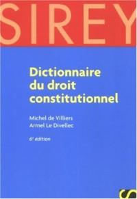 Dictionnaire du droit constitutionnel