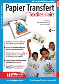 Papier transferts sur T-shirt - A4 (210 x 297 mm) - 5 unités